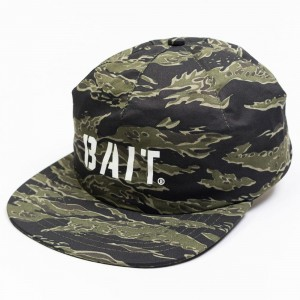 BAIT Tiger Camo Logo 1 Panel Hat (camo)