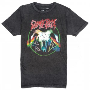 Dimepiece Women Slay Em Acid Wash Tee (black)