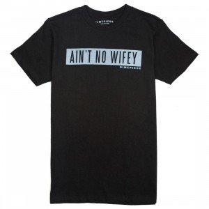 Dimepiece Women Aint No Wifey Acid Wash Tee (black)