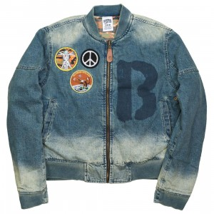 Billionaire Boys Club Men BB Rouge Reversible Jacket (blue / denim / brown)