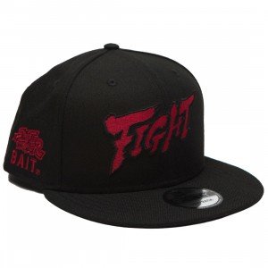 BAIT X Street Fighter x New Era Fight Snapback Cap (black)