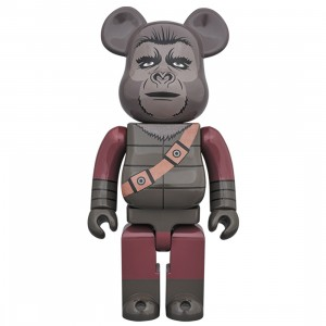 PREORDER - Medicom Planet of the Apes Soldier Ape 400% Bearbrick Figure (gray)
