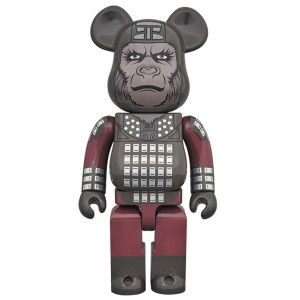 PREORDER - Medicom Planet of the Apes General Ursus 400% Bearbrick Figure (gray)