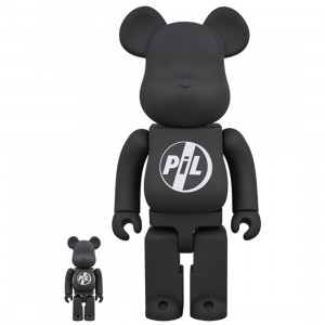 PREORDER - Medicom PIL Public Image Ltd 100% 400% Bearbrick Figure Set (black)