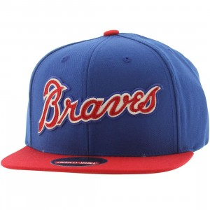 American Needle Atlanta Braves Flynn Snapback Cap (blue / royal blue / red)