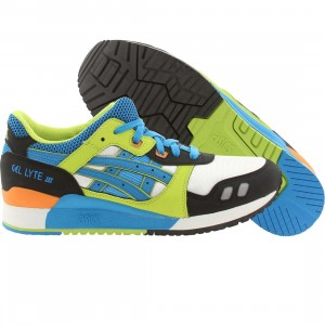 Asics Tiger Gel-Lyte III (white / astro / blue / green / orange)