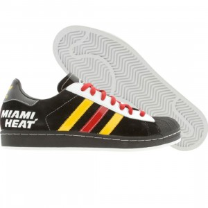 Adidas Superstar 1 NBA Series - Miami Heat (black / col gold / university red)