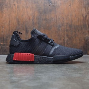Adidas Men NMD R1 (black / core black / lush red)