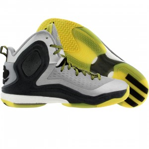 Adidas Men D Rose Boost (silver / core black / viv yel)