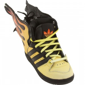 Adidas Toddler ObyO JS Flames I - Jeremy Scott (black / sun / dkoran)