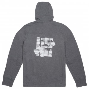 Adidas x Undefeated Men Tech Hoodie (gray / dark grey heather)