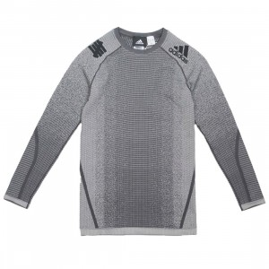 Adidas x Undefeated Men Alphaskin Tech Heat Tee (gray / solid grey / utility black)