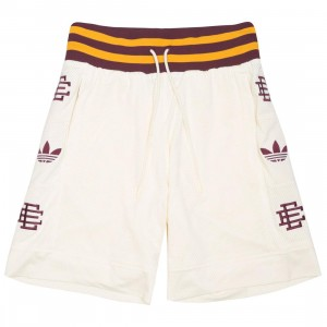 Adidas x Eric Emanuel Men Heavy Shorts (beige / cream white / maroon / craft gold)