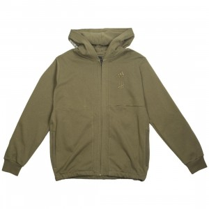 Adidas x Undefeated Men FZ Hoodie (olive / olive cargo)