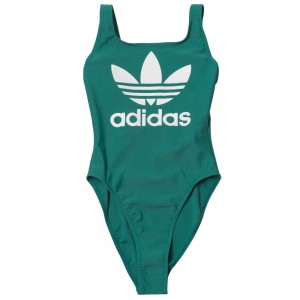 Adidas Women Trefoil Swimsuit (green / active green)