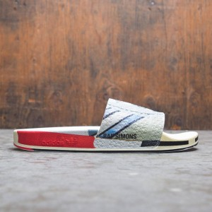 Adidas Raf Simons Men Micro Adilette Slides (silver / silver metallic / bright red)