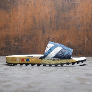 Adidas Raf Simons Men L.A. Adilette Slides (blue / legend ink / silver metallic / night navy)