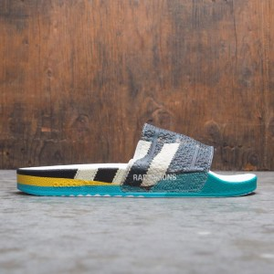 Adidas Raf Simons Men Samba Adilette Slides (black / footwear white / bright blue)