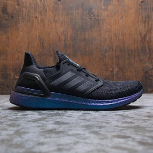 Adidas Men UltraBOOST 20 (black / core black / boost blue violet metallic)