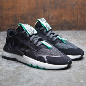 Adidas Men Nite Jogger LA (black / footwear white / hi-res green)