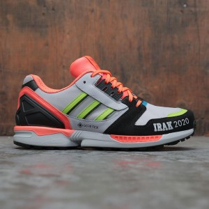 Adidas x IRAK Men ZX 8000 GTX (gray / clear onix / semi solar slime / solar red)