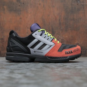 Adidas x IRAK Men ZX 8000 GTX (black / clear onix / solar red)
