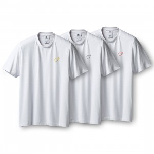 Adidas x Human Made Men 3P Pack Tee (white)