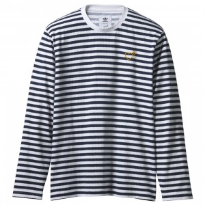 Adidas x Human Made Men LSL Tee (navy / collegiate navy)