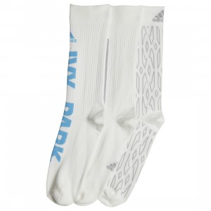 Adidas x Ivy Park Men Logo 3 Pack Socks (white / light blue)