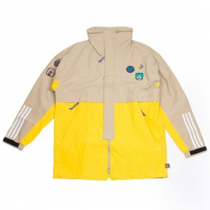 Adidas x Pharrell Williams Men Hu Hiking 3-Layer Jacket (beige / hemp / eqt yellow)
