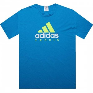 Adidas Tennis Ess Logo Tee (sharp blue)