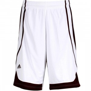 Adidas Pro Team Shorts (white / light maroon)