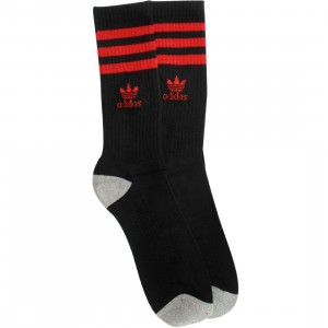 Adidas Originals Crew Socks (black / scarlet) 1S