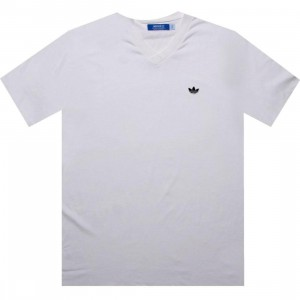 Adidas Solid V-Neck Tee (white / black)