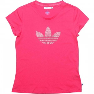Adidas Womens RS Logo Tee (super pink)