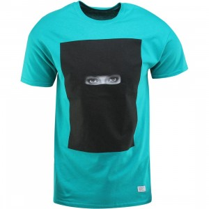 Akomplice Black Eyes Tee (teal / jade dome)