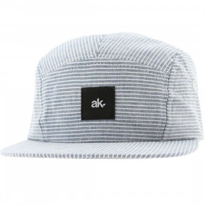 Akomplice Criss Cross 5 Panel Snapback Cap (light blue)