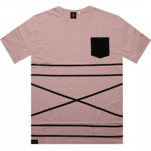 Akomplice Cross Stripe Tee (peach)