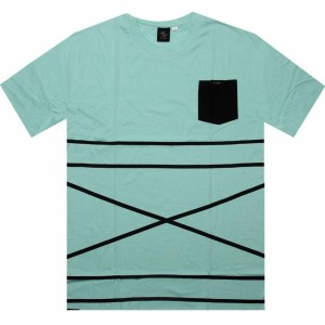 Akomplice Cross Stripe Tee (teal)