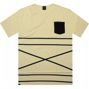 Akomplice Cross Stripe Tee (yellow)