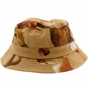 Akomplice Deer Head Bucket Hat (brown)