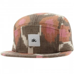 Akomplice Grace 5 Panel Snapback Cap (brown / pink)
