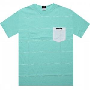 Akomplice Hand Made Tee (teal / white)