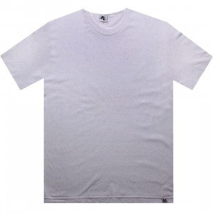 Akomplice Poco Stripe Tee (white / purple)