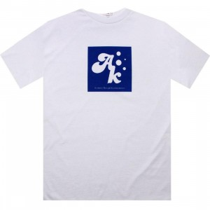 Akomplice Square Root Tee (white / navy)