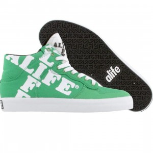 ALIFE Women Everybody High Cross - Canvas (green)