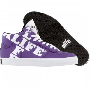 ALIFE Women Everybody High Cross - Canvas (purple)