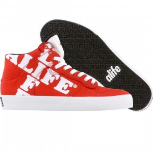 ALIFE Women Everybody High Cross - Canvas (red)