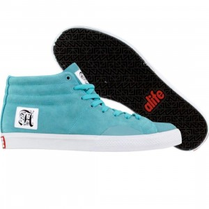 ALIFE Shell Toe - Suede (turquoise)