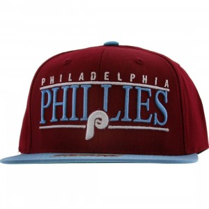 American Needle Philadelphia Phillies Nineties Snapback Cap (maroon / light blue)